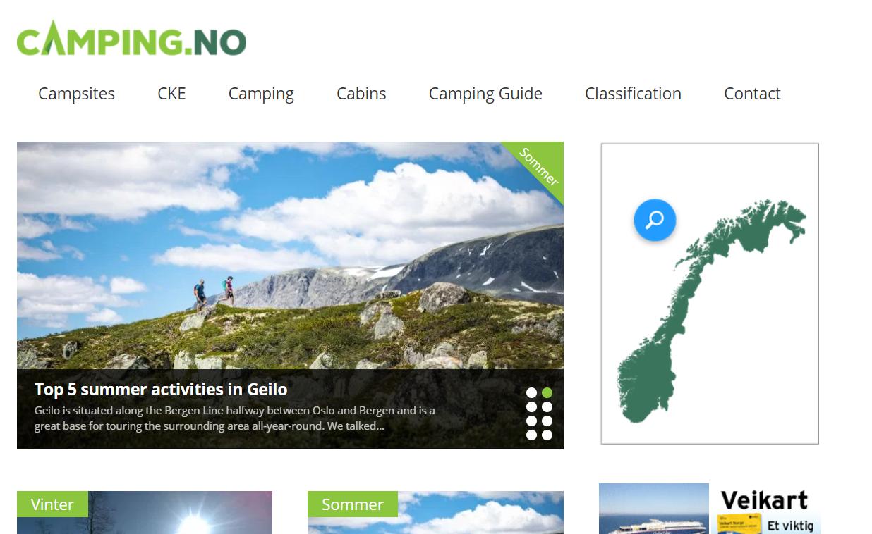 kempování v Norsku